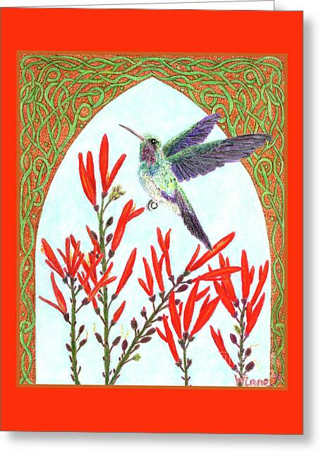 Hummingbird In Opening Greeting Card