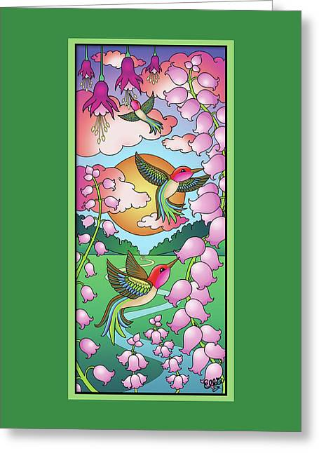 Hummingbird Sunrise Greeting Card by Eleanor Hofer
