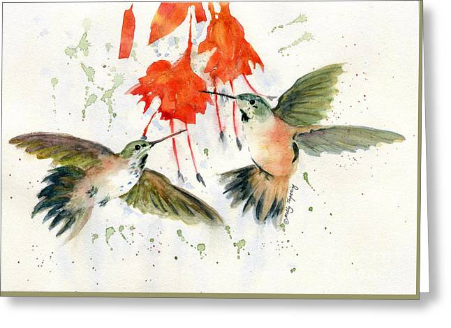 Hummingbird Watercolor Greeting Card