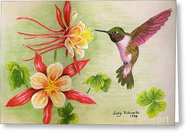 Hummingbird's Delight Greeting Card