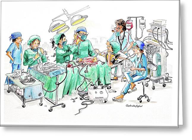 Humorous Surgical Comedy Greeting Card