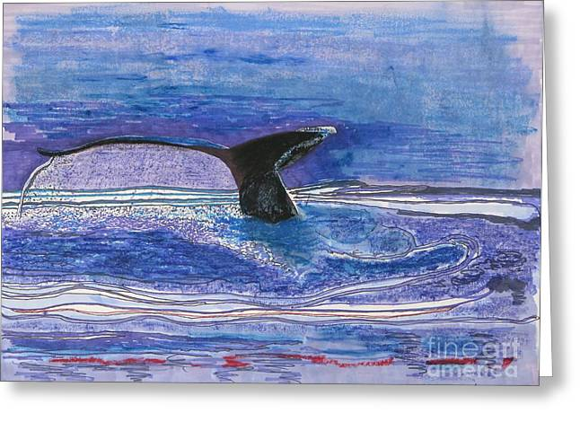 Humpback Hello Greeting Card by James SheppardIII