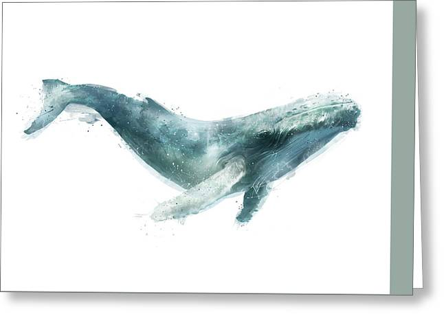 Humpback Whale From Whales Chart Greeting Card by Amy Hamilton