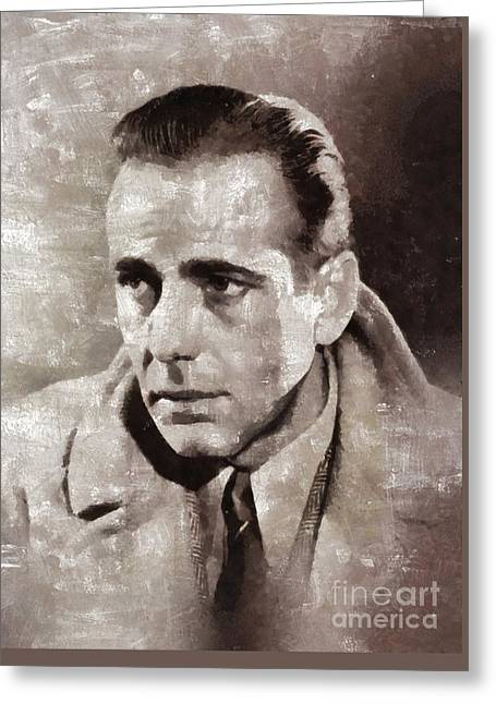 Humphrey Bogart By Mary Bassett Greeting Card