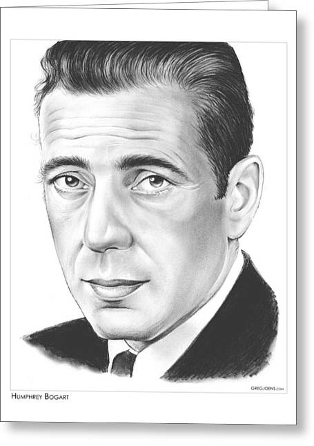 Humphrey Bogart Greeting Card by Greg Joens