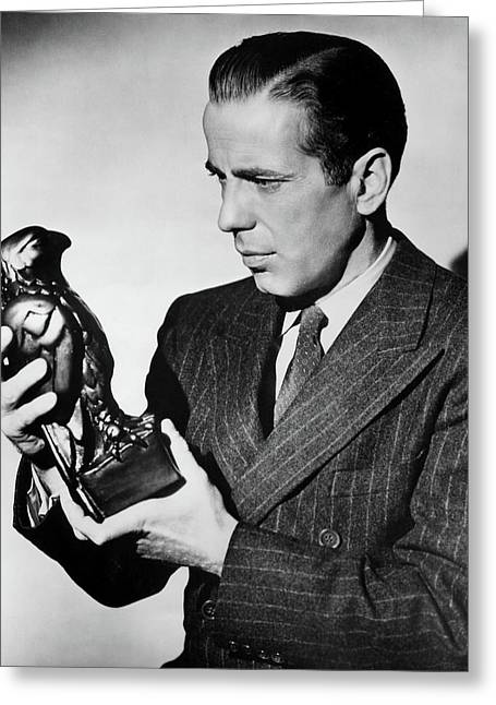 Humphrey Bogart Holding Falcon #1the Maltese Falcon 1941 Greeting Card by David Lee Guss