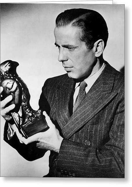 Humphrey Bogart Holding Falcon The Maltese Falcon 1941  Greeting Card by David Lee Guss