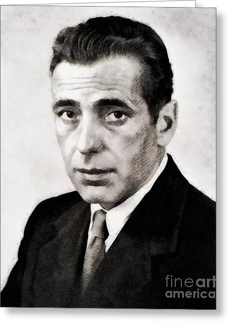 Humphrey Bogart, Hollywood Legend By John Springfield Greeting Card