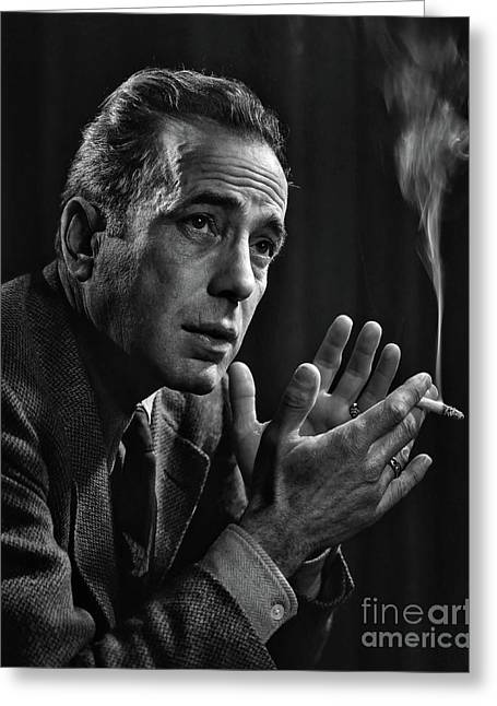 Humphrey Bogart - In Tribute To Yousuf Karsh Greeting Card