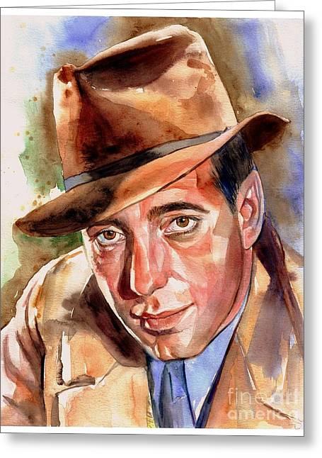 Humphrey Bogart Portrait Greeting Card