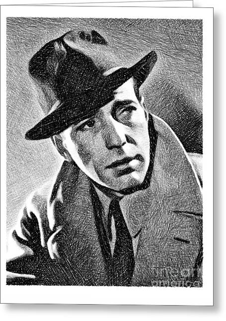 Humphrey Bogart, Vintage Actor By Js Greeting Card