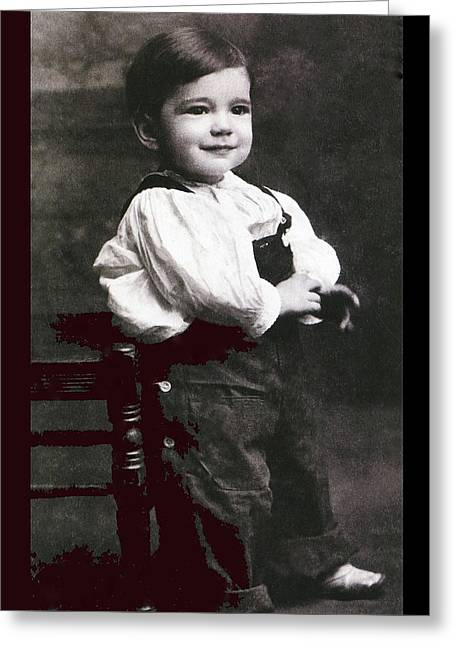 Humphrey Deforest Bogart At Two Years Of Age  1901 Greeting Card by David Lee Guss