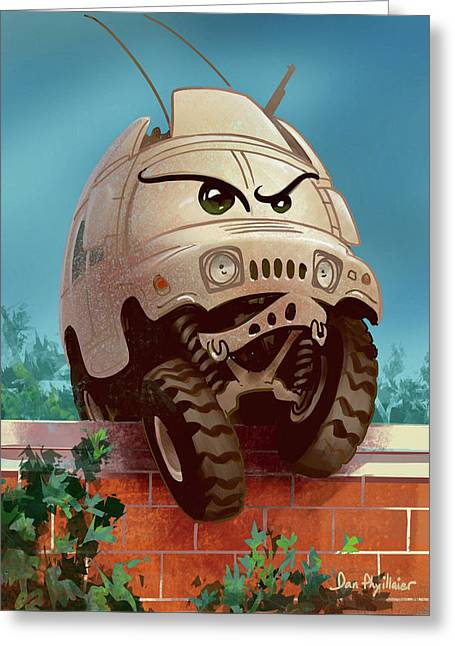 Humvee Dumpty Greeting Card
