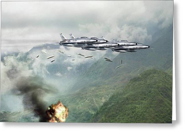 Hun Line Of Fire Greeting Card by Peter Chilelli