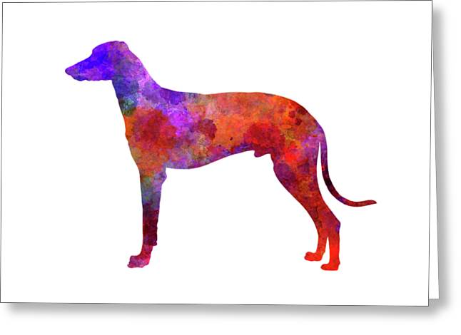 Hungarian Greyhound In Watercolor Greeting Card