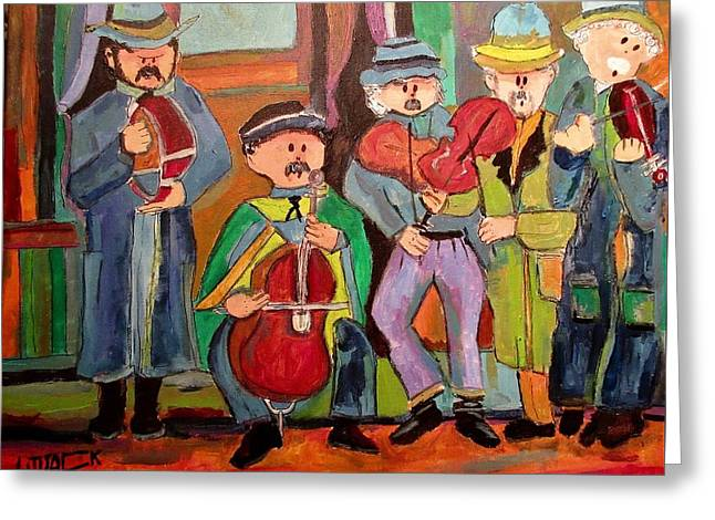 Hungarian Klezmer 1890's Greeting Card by Michael Litvack