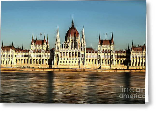 Hungarian National Parliament Greeting Card