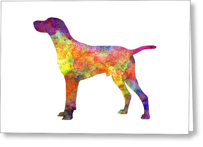 Hungarian Shorthaired Pointer In Watercolor Greeting Card by Pablo Romero