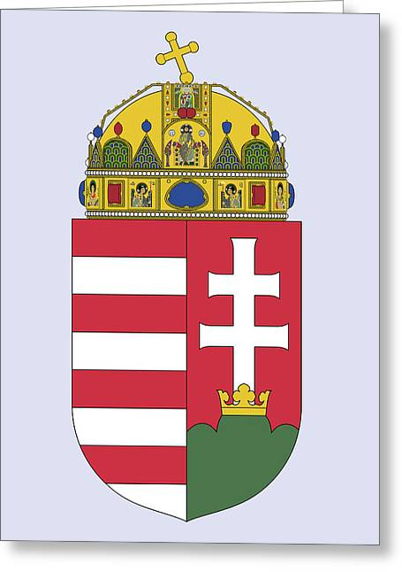 Greeting Card featuring the drawing Hungary Coat Of Arms by Movie Poster Prints