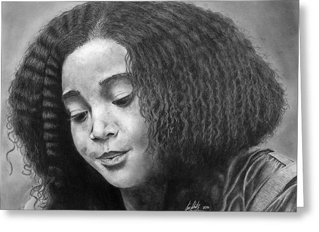 Hunger Games Rue Drawing Greeting Card