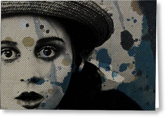 Greeting Card featuring the mixed media Hungry Eyes by Paul Lovering