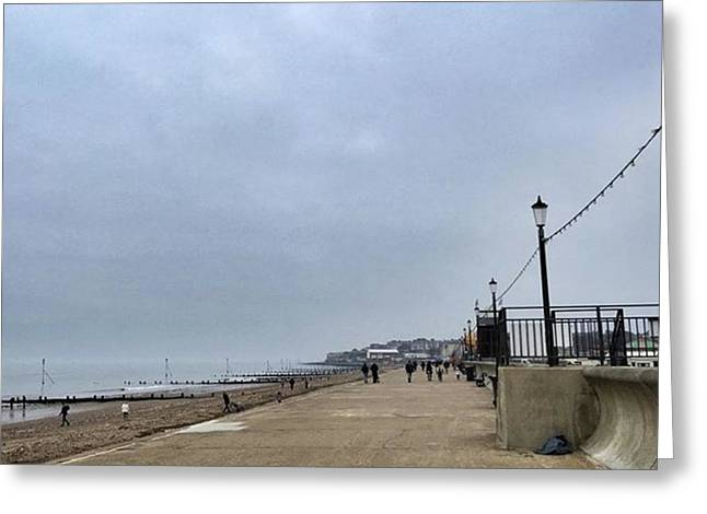 Hunstanton At 4pm Yesterday As The Greeting Card by John Edwards