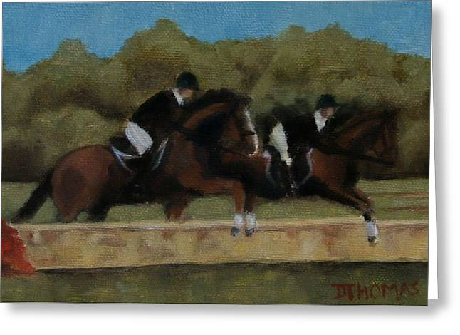 Hunt Scene Greeting Card by Donna Thomas
