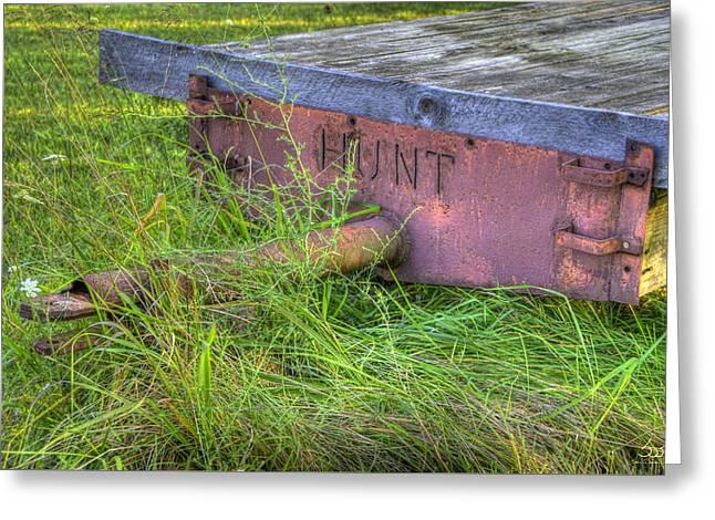Hunt Wagon Greeting Card by Sam Davis Johnson