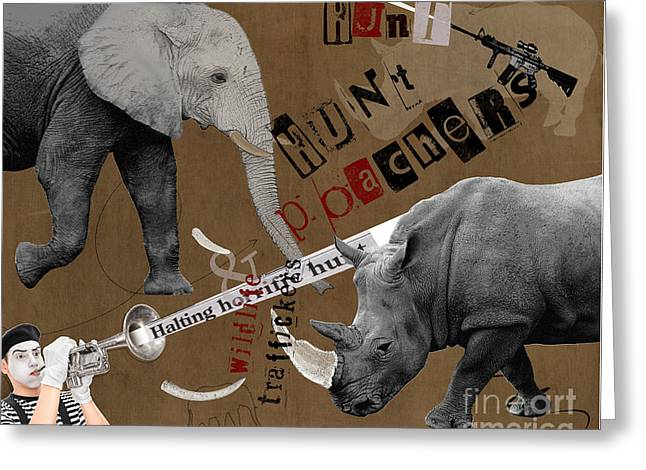 Hunt Wildlife Poachers Greeting Card
