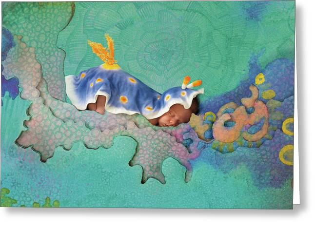 Hunter As A Nudibranch Greeting Card by Anne Geddes