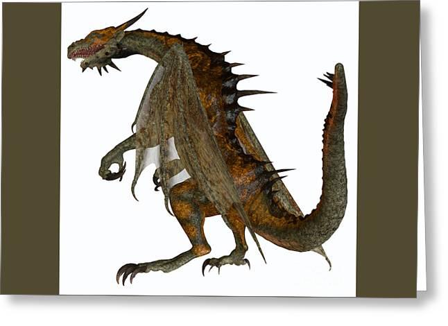 Hunter Dragon Greeting Card by Corey Ford
