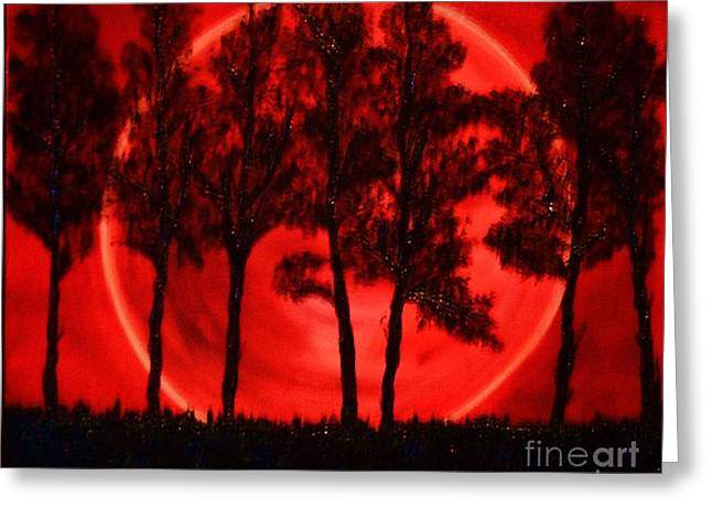 Hunters Moon Greeting Card by Lori Jacobus-Crawford