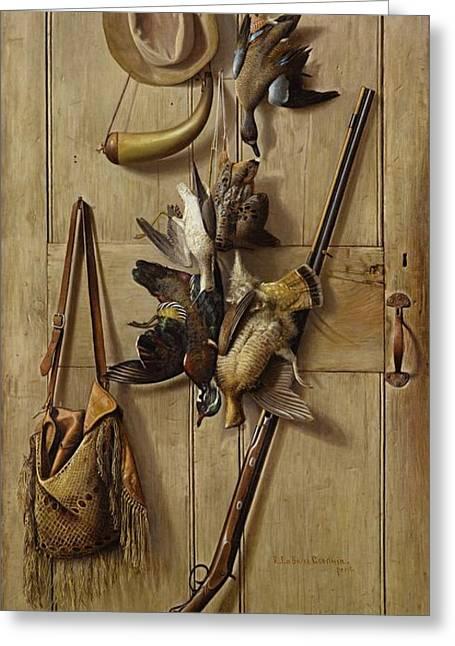 Hunting Cabin Door Greeting Card