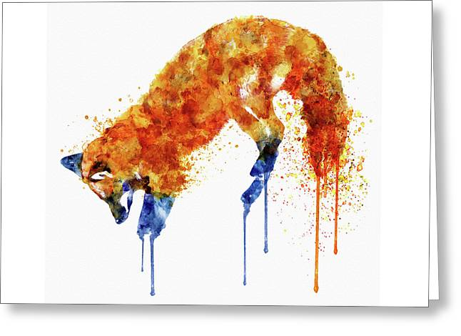 Hunting Fox  Greeting Card by Marian Voicu