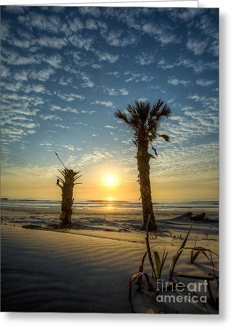 Hunting Island State Park Beach Sunrise Greeting Card by Dustin K Ryan
