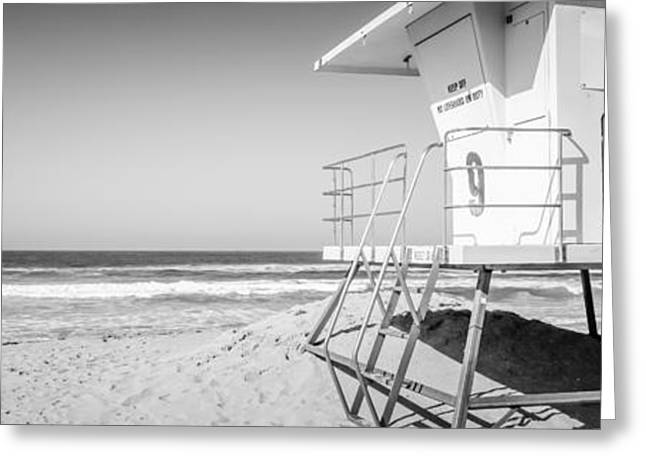 Huntington Beach Lifeguard Tower Panorama Photo Greeting Card by Paul Velgos