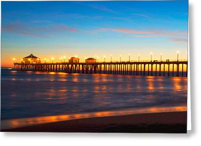 Huntington Beach Pier - Twilight Greeting Card