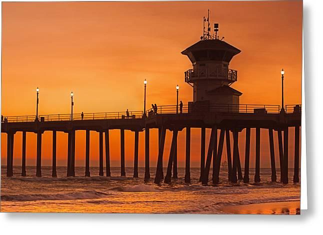 Huntington Beach Pier, California  Greeting Card