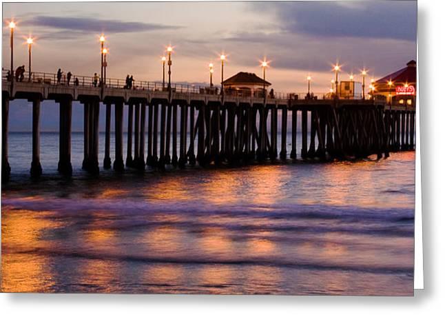 Huntington Beach Pier Greeting Card by Charlie Hunt