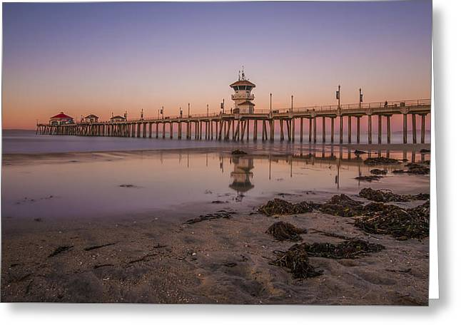Huntington Beach Pier Greeting Card by Sean Foster