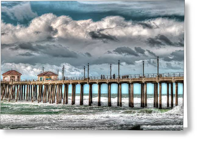 Greeting Card featuring the photograph Huntington Beach Winter 2017 by Jim Carrell