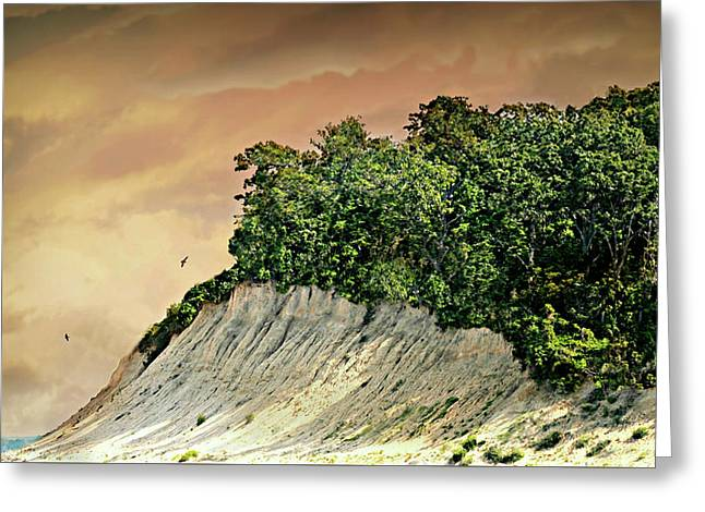 Huntington Beachscape Greeting Card by Diana Angstadt