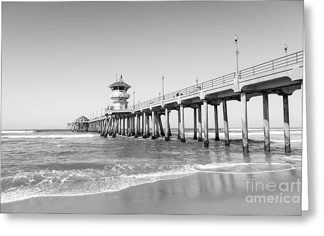 Huntington Pier In Huntington Beach Ca Greeting Card