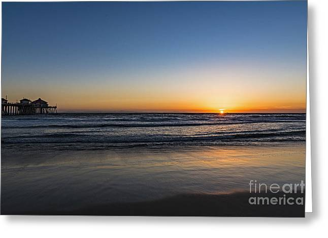 Greeting Card featuring the photograph Huntington Sunset by Anthony Baatz
