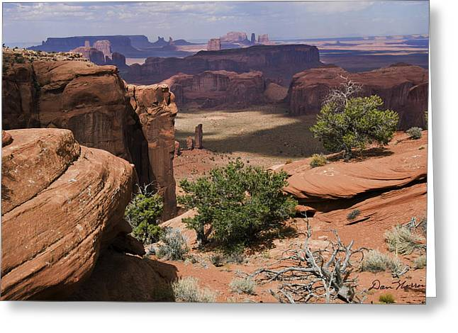 Hunt's Mesa And Monument Valley Greeting Card