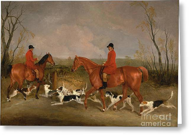 Huntsman To The Quorn Greeting Card by Celestial Images