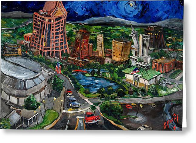 Huntsville Skyline Greeting Card by Carole Foret