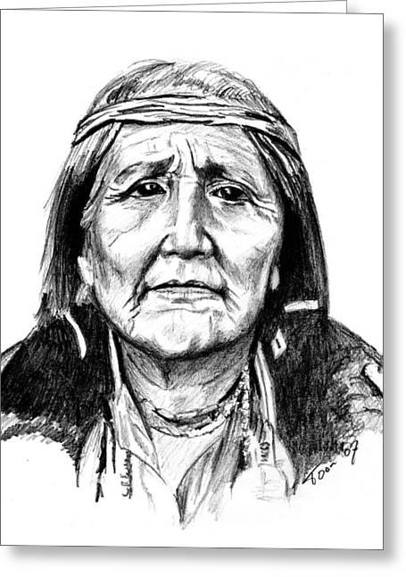 Hupa Woman Greeting Card