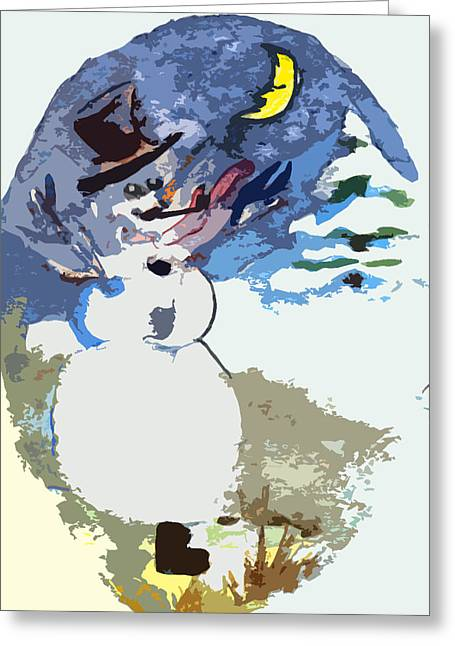 Hurray The Frosty Greeting Card by Mindy Newman