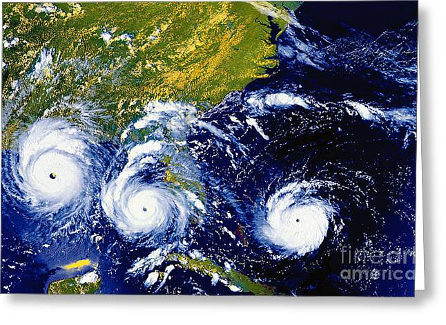 Hurricane Andrew Time Lapse Greeting Card by Stocktrek Images